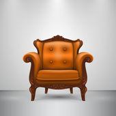 Retro chair orange — Vector de stock