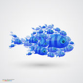 Pack of fish. Vector — 图库矢量图片