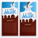 Milk with chocolate — Stock Vector #65447109