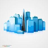 Modern city landscape background — Stock Vector