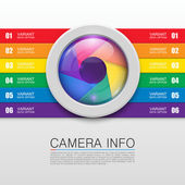 Camera info banner — Stock Vector