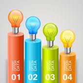 Idea of bulbs in the chart — Stock vektor