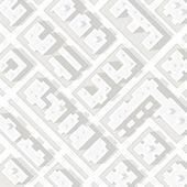 Karta över staden i vit stil — Stockvektor
