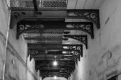 Corridor Black and white — Stock Photo