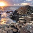 Sunset at Giant s causeway — Stock Photo #58901069