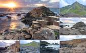 Giants Causeway collage — Stock Photo