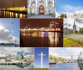Dublin photos collage — Stock Photo