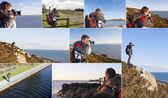 Collage of Photographer — Stock Photo