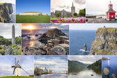 Ireland country collage — Stock Photo