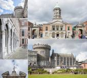 Collage of Dublin Castle — Stock Photo