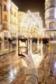 Taking picture by mobile — Foto de Stock