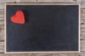 Heart on blackboard — Stock Photo