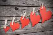 Corações vintage — Foto Stock
