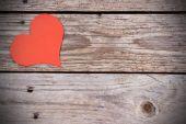 Coração com fundo de madeira — Foto Stock