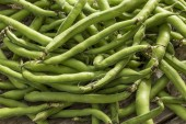 Green beans background — Stock Photo