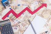 Euro value increasing — Stock Photo