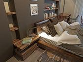 Interno camera da letto in stile moderno — Foto Stock