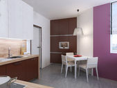 Kitchen interior in the style of constructivism — Stock Photo