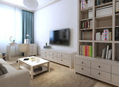 Living room in a modern style — Stock Photo