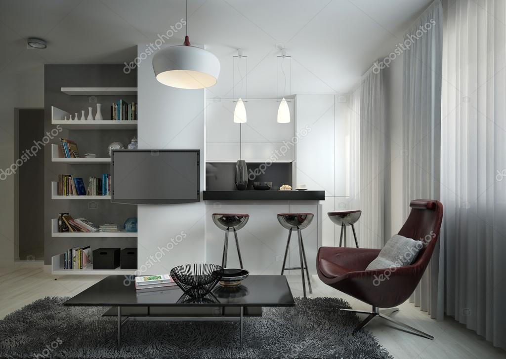 Wohnzimmer Modern Eingerichtet ? Stockfoto © Kuprin33 #51834769 Wohnzimmer Modern Eingerichtet