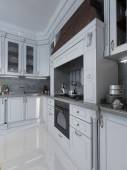 Kitchen in classical style — Stock Photo