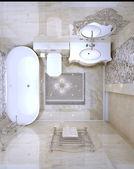 Lyxiga badrum inredning — Stockfoto