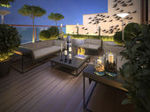 Roof - terrace in a modern style — Stock Photo