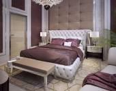 Betten und Kopfteilen im klassischen luxuriösen Stil — Stockfoto