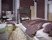 Bedroom in a luxurious classic style — ストック写真