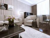 Salon w stylu nowoczesnym — Zdjęcie stockowe