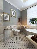 Bathroom classic style — Stock Photo