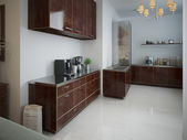 Kitchen in a modern style — Stockfoto