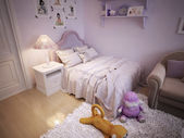 Baby bed for girls classic style — Fotografia Stock