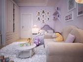 Children's room for girls classic style — Foto de Stock