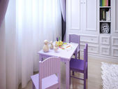 Children's room for girls classic style — Stock Photo