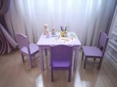 Children's room for girls classic style — Stockfoto