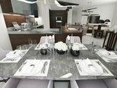Dining room contemporary style — 图库照片