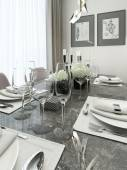Dining room contemporary style — Stock Photo