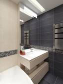 Master bathroom in modern style — Stock Photo