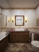 Bathroom in provence style — Stock Photo