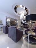 Living room luxury style — Stock Photo