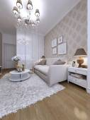 Guest room modern style — 图库照片