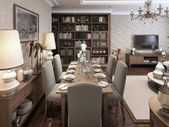 Dining room classic style — Foto Stock