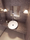 Bathroom in the neoclassical style — Stock Photo