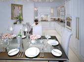 Dining room classic style — Stock Photo