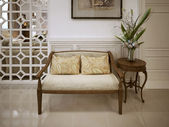Banquette bench classic style — Photo