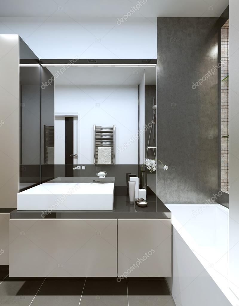 zeitgenössischen stil badezimmer — stockfoto © kuprin33 #60968131, Hause ideen