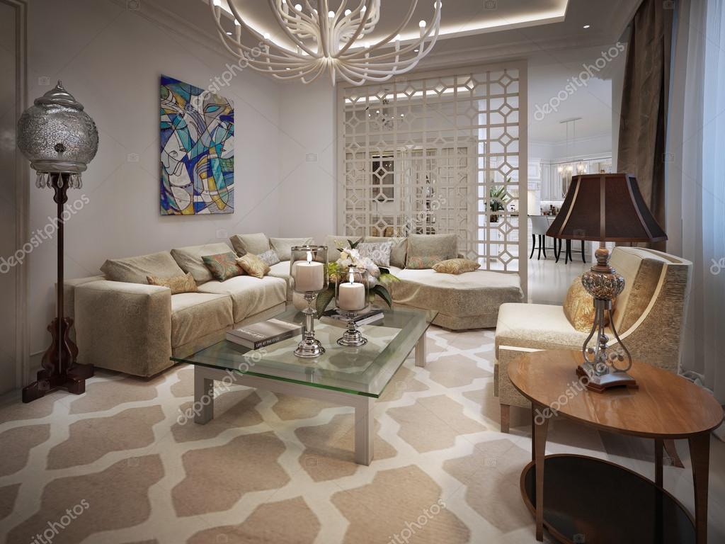 woonkamer arabische stijl — stockfoto © kuprin33 #60968673, Deco ideeën