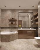 Bagno in stile moderno — Foto Stock