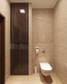 Cozy modern toilet — Stock Photo